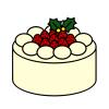 クリスマスケーキ ホワイト
