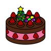 クリスマスケーキ チョコ