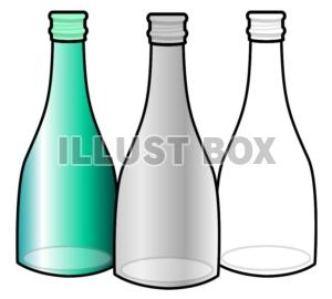 無料イラスト ガラス瓶リサイクル