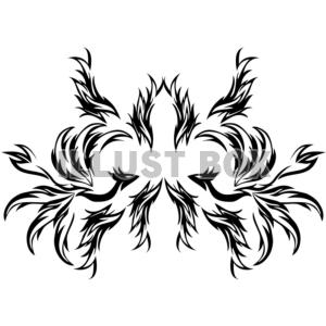 無料イラスト ワンポイントイラスト トライバルデザイン 鳳凰03