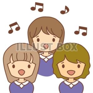 無料イラスト 女の子たちの合唱