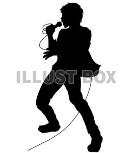 無料イラスト シルエットロックバンド 人物 ボーカル11