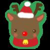 クリスマスのトナカイさん【透過PNG】