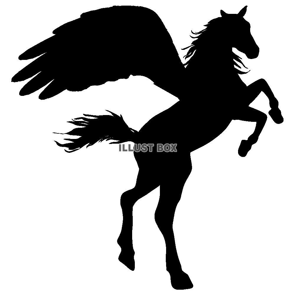 無料イラスト 【シルエット】年賀状 馬 透過png 12