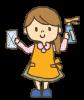 【透過PNG】大掃除する主婦