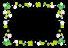 POPな四つ葉クローバーとシロツメクサフレーム【EPS(ベクターデータ)透過PNG】