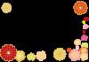 梅と花のフレーム【透過PNG】【EPSベクターデータつき】