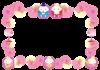 ひな祭りのフレーム・飾り枠【透過PNG】