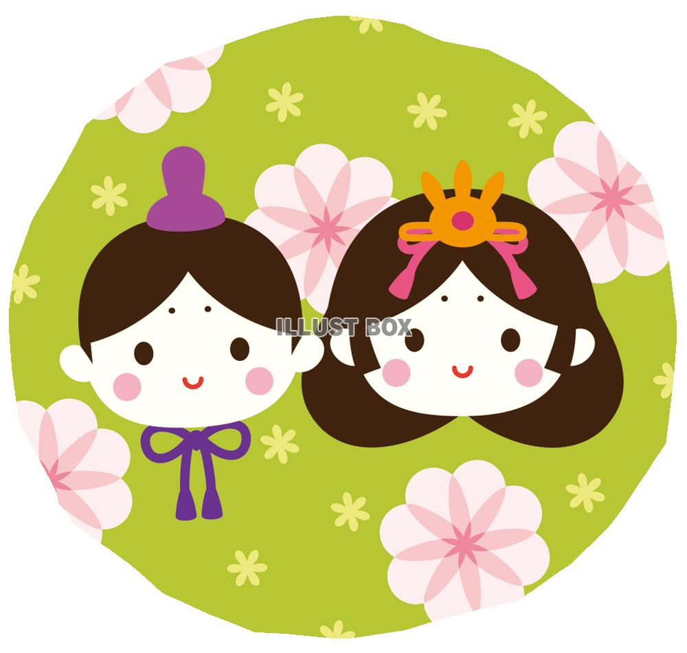 ... <ひな祭り> : イラスト無料 : ひな祭り 桃の花 イラスト : イラスト