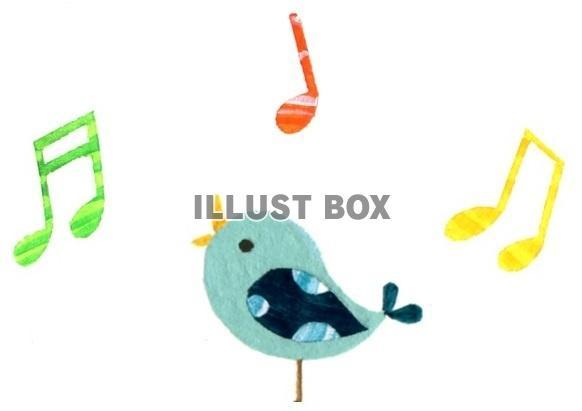 無料イラスト 鳥の歌左向き