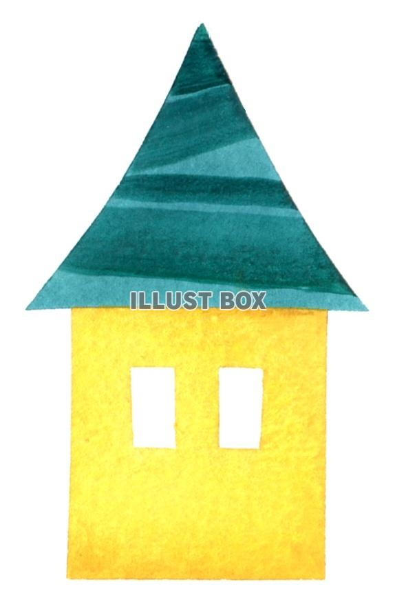 無料イラスト シンプルなお家3