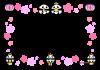 ひな祭り・パンダのフレーム枠【透過PNG】
