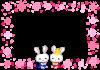 ひな祭り フレーム(うさぎ)[透過PNG]