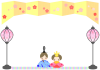 ひな祭り ひな人形フレーム1 [透過PNG]