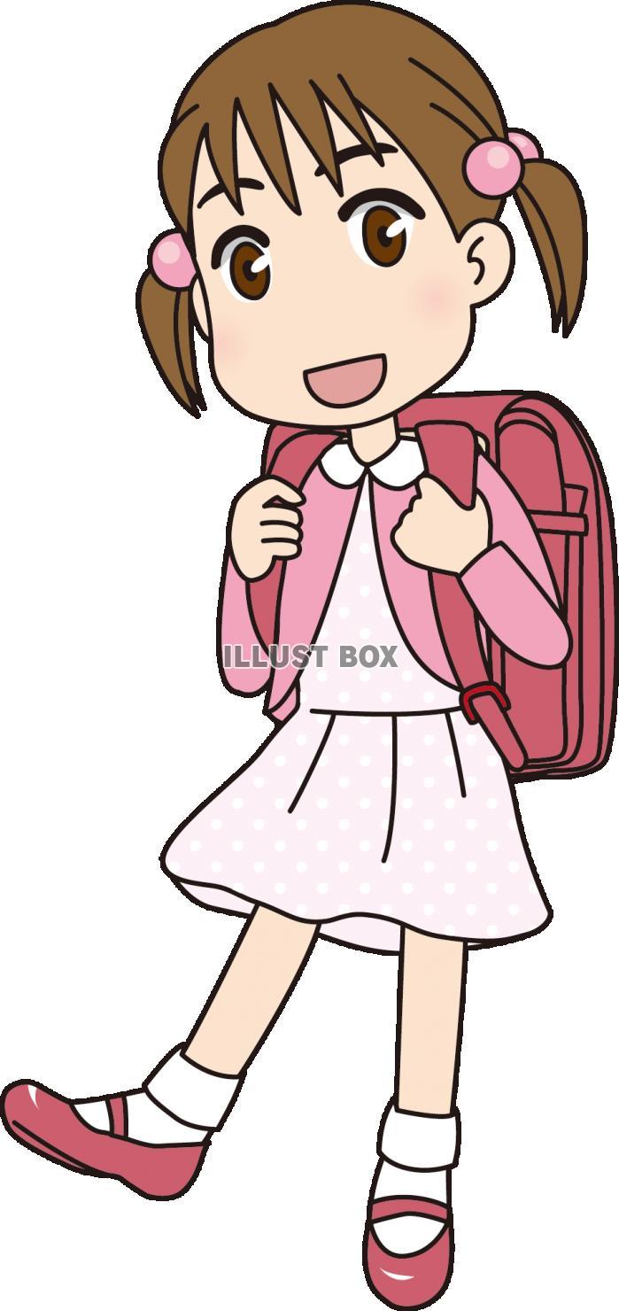 無料イラスト 女の子小学生
