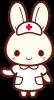 うさぎの看護師さん<こちらへ・右手>