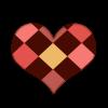 ダイヤ柄のバレンタインハート