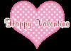 ハートとバレンタイン文字【透過PNG】
