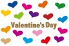 ハートのバレンタインのメッセージカード