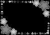 星のフレーム(モノクロ) [透過PNG]