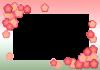 ひな祭り(桃の花フレーム)