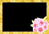 ひな祭り・桃の花の枠