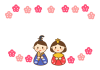 ひな祭り(雛人形フレーム)
