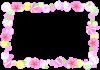 ひな祭り・桃の花と菓子のフレーム