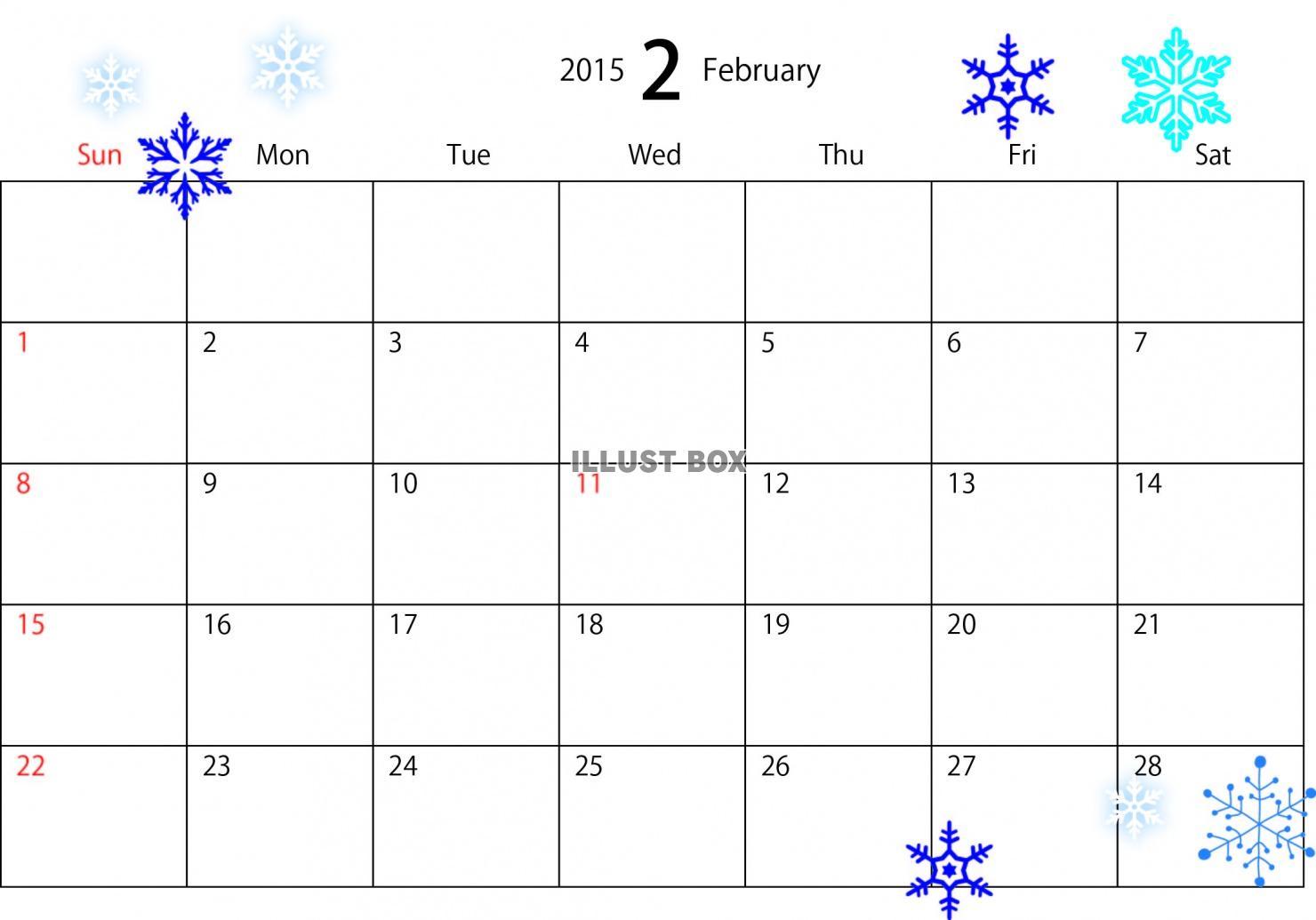 2015年2月カレンダー : 今年の5月 ...