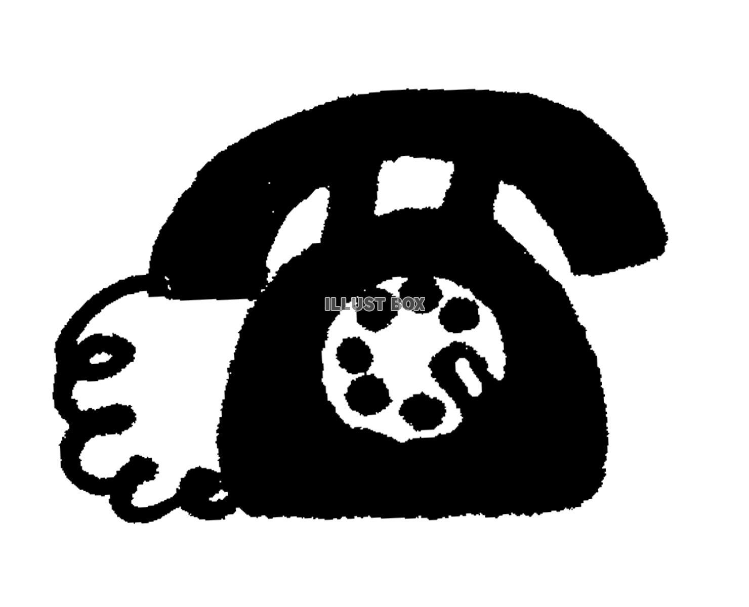 無料イラスト 【透過png】黒電話【アイコン】