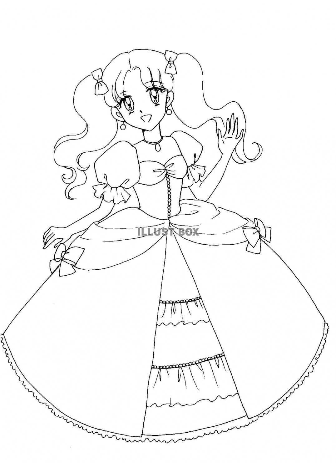 ツインテールのお姫様  【女の子向け】お姫様 プリンセスの