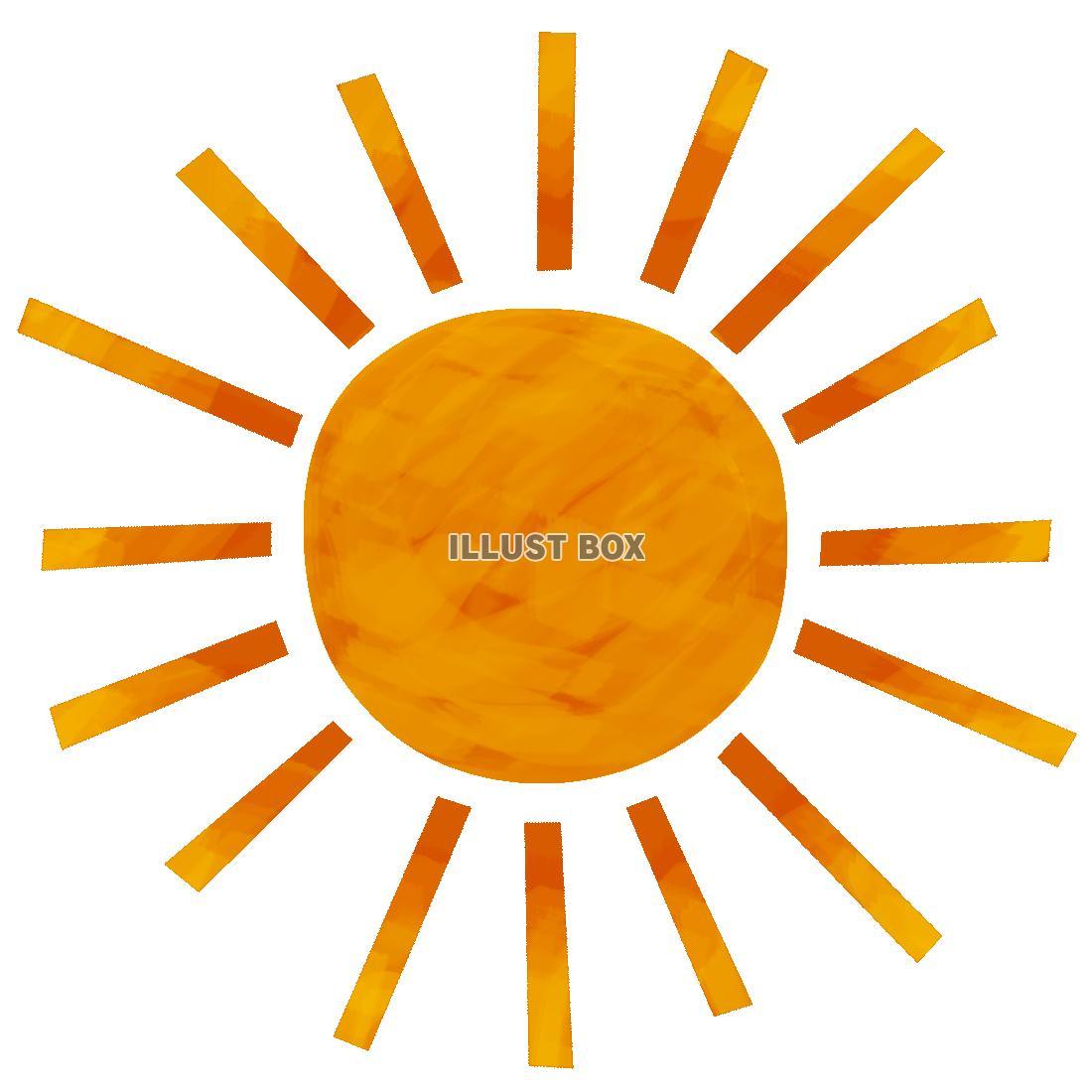 無料イラスト 太陽 透過png