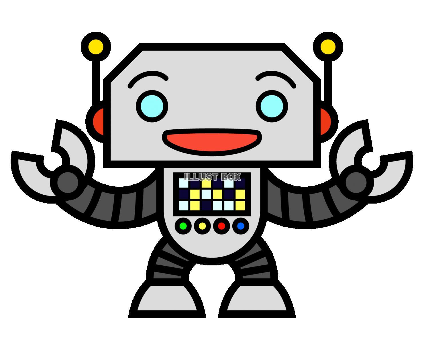 無料イラスト ロボット1 透過png