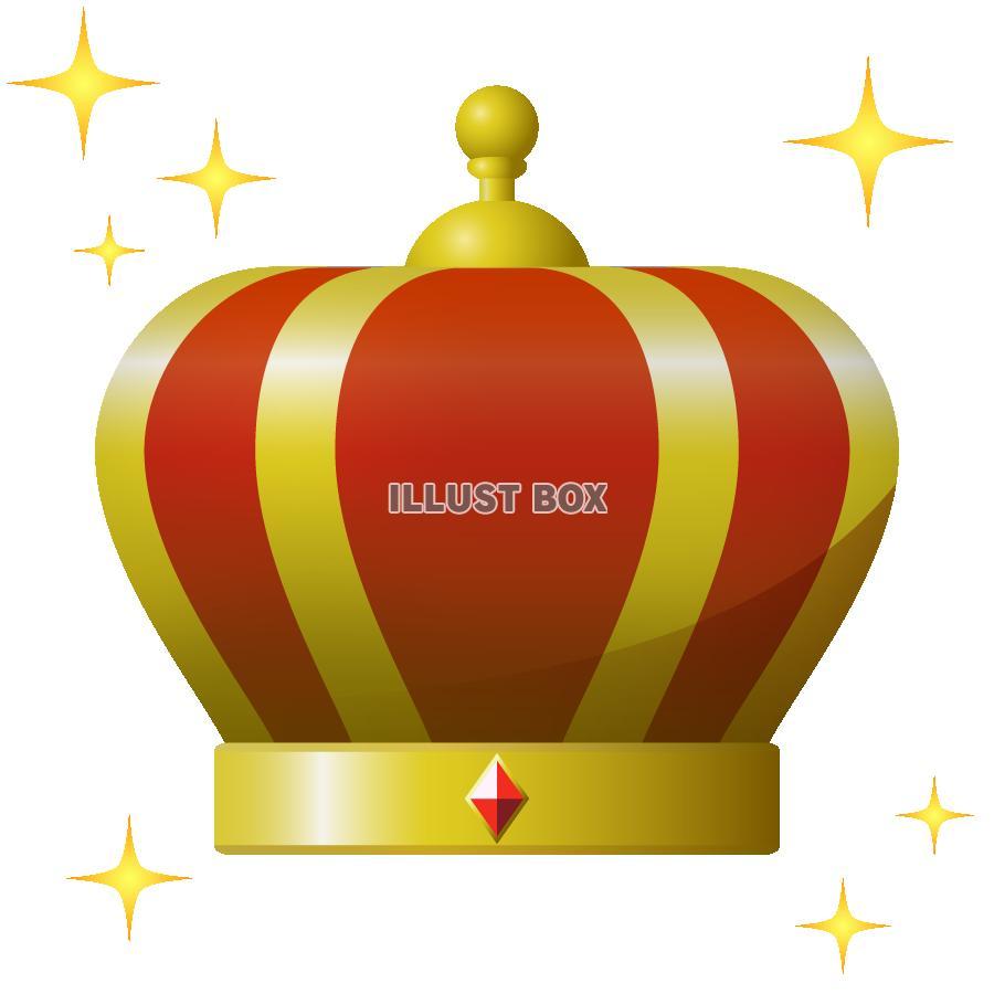 無料イラスト 王冠のイラスト エフェクト付き 透過png