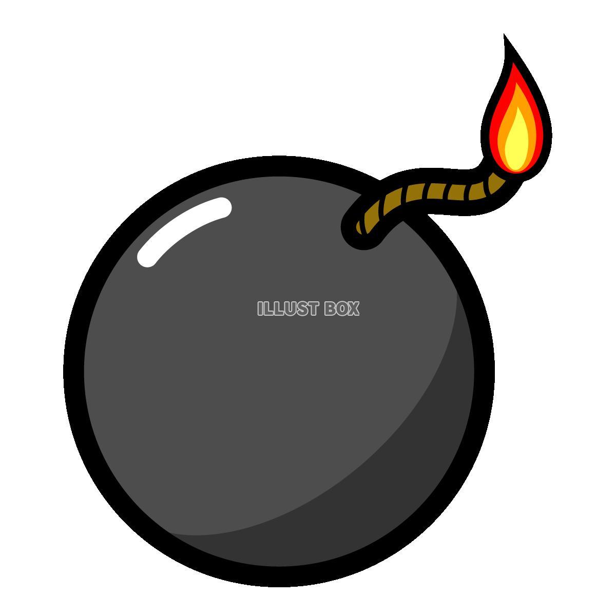 爆弾のイラスト2 (透過PNG) : イラスト無料