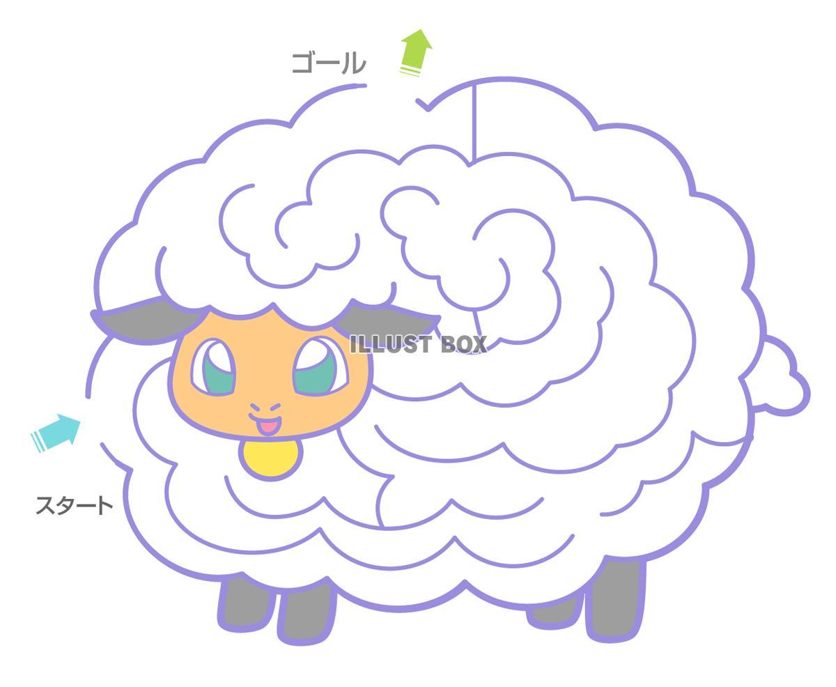 無料イラスト 羊の迷路