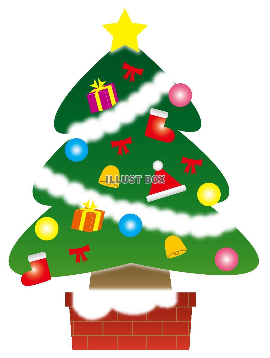 かわいいクリスマスツリー(PNG透過)