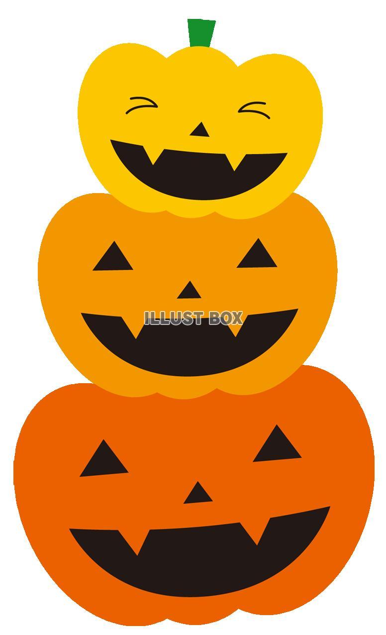 無料イラスト ハロウィンかぼちゃ3コ【透過png】