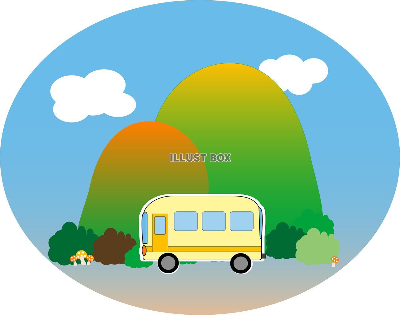 無料イラスト バス旅行