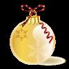 クリスマス オーナメントボール【透過PNG】