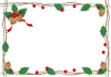 柊の飾りのフレーム 透過PNG