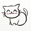 笑顔のネコ