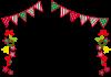 クリスマスガーランドフレーム【透過PNG】【EPSベクターデータ付】