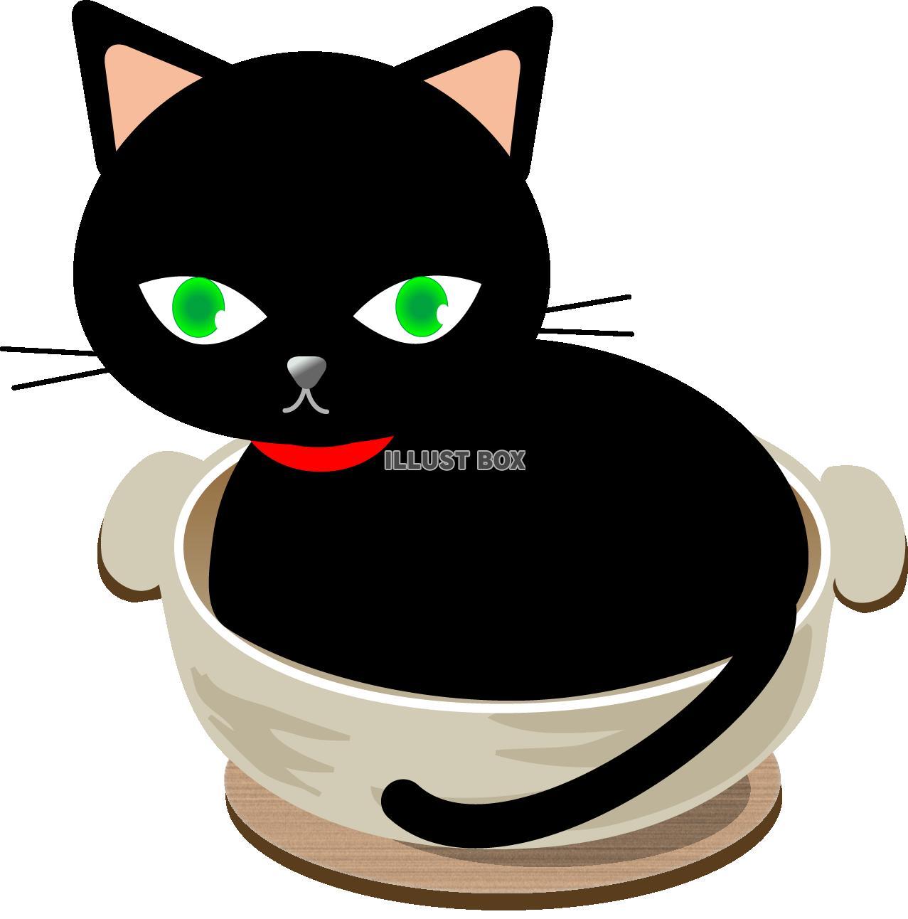 無料イラスト 猫鍋