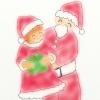 サンタさんと女の子