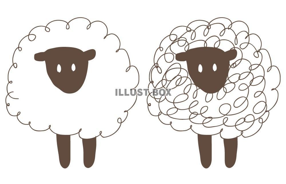 サンプル画像は線がギザギザに ... : 羊 画像 年賀状 : 年賀状