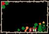 クリスマスツリーの木枠フレーム 透過PNG