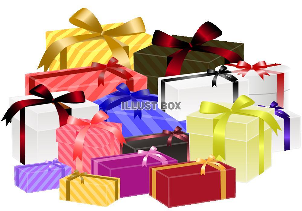 無料イラスト プレゼントボックスのセット2透過png