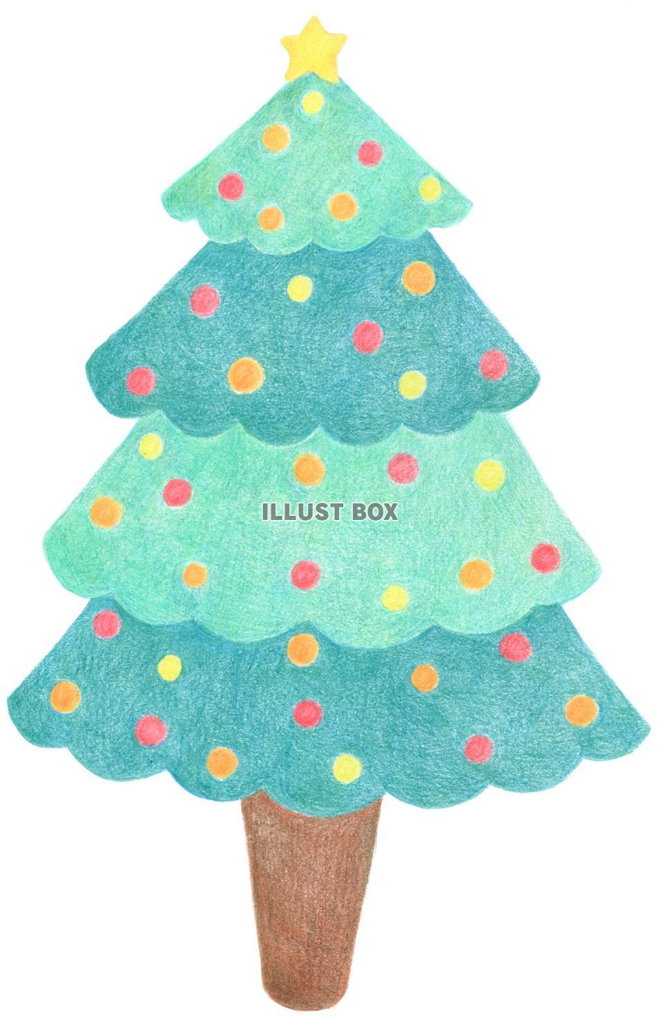 クリスマスツリー イラスト かわいい 簡単 無料の印刷用ぬりえ