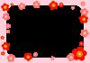 梅のフレーム (透過PNG)